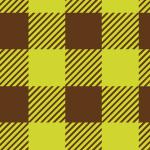 緑と茶色のシェパードチェックパターン