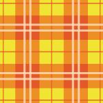 オレンジ主体のタータンチェックパターン