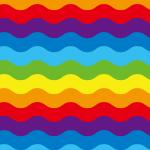 7色のレインボーラインが波打つパターン