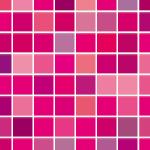 ピンクベースのモザイクタイル風パターン