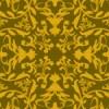 金色配色の西洋風ダマスク柄パターン