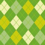 ナチュラルな配色のアーガイルチェックパターン