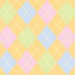 パステル調の柔らかな配色のアーガイルチェックパターン