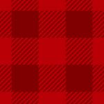 濃いレッドのシェパードチェックパターン背景素材