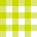 黄緑色のギンガムチェック柄パターン