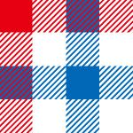 赤・白・青のギンガムチェックパターン