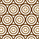茶色い丸が重なるパターン