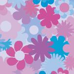 紫ベースの花のイラスト背景パターン
