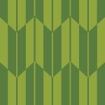 和的な緑色の矢絣柄パターン