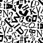 アルファベットが散らばったパターン