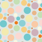 柔らかな色合いの円が散らばるパターン