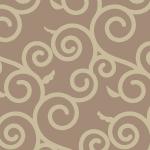 ベージュの唐草模様パターン