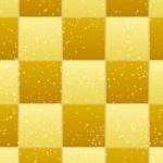 金屏風のような、めでたい格子パターン