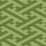 緑色の紗綾形 和柄パターン