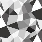白黒配色のジオメトリックパターン