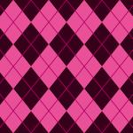 黒とピンクのアーガイルチェック柄パターン