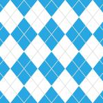 青と白の爽やかなアーガイルチェック柄パターン