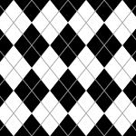 白黒のアーガイルチェックパターン