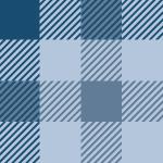 青ベースのガンクラブチェック柄パターン