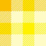 黄色基調のガンクラブチェックパターン