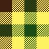 茶・黄・緑のガンクラブチェックパターン