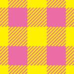 ピンクと黄色の可愛らしいシェパードチェック柄パターン