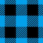 青と黒のシェパードチェック柄パターン