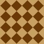 茶色のハーリキンチェック柄パターン