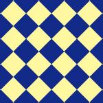 紺と薄い黄色のハーリキンチェック柄パターン