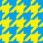 青と黄色のハウンドトゥース(千鳥格子)柄パターン