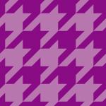 紫色のハウンドトゥース(千鳥格子)柄パターン