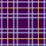紫に黄色ラインが映えるタータンチェック柄パターン