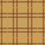 ブラウンを基調としたタータンチェック柄パターン
