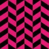 ビビットなピンクと黒のヘリンボーン柄パターン