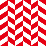 赤と白のヘリンボーン柄パターン