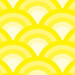 黄色の青海波柄パターン