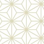 白い麻の葉柄パターン