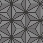 黒を基調とした麻の葉柄パターン