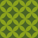 緑色の七宝柄パターン