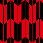 黒と赤の矢絣柄パターン