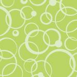 緑色の様々なサークルが重なりあうパターン