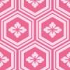 ピンク色の亀甲柄パターン