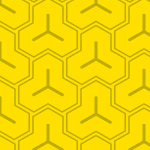 黄色の毘沙門亀甲柄パターン