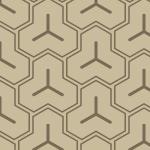 ベージュカラーの毘沙門亀甲柄パターン