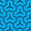 青と黒の毘沙門亀甲柄パターン
