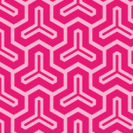 ピンク配色の毘沙門亀甲柄パターン