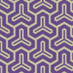 紫色の渋い毘沙門亀甲柄パターン