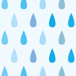 雨が落ちてるようなレインドロップ柄パターン