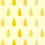 黄色のレインドロップ柄パターン