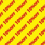 10%OFFの割引キャンペーン用背景パターン